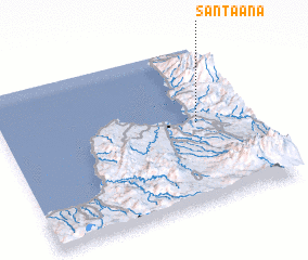 3d view of Santa Ana