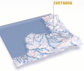 3d view of Santa Ana
