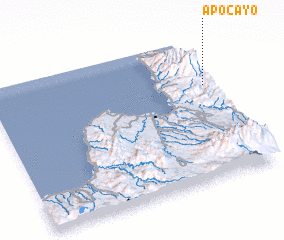 3d view of Apo Cayo