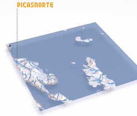 3d view of Picas Norte