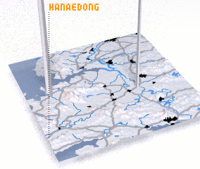 3d view of Hanae-dong