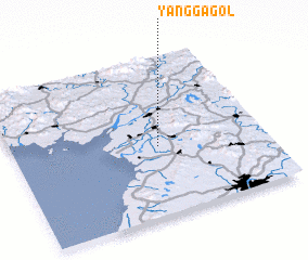 3d view of Yangga-gol