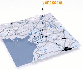 3d view of Yangga-gol