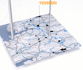 3d view of Yusŏng-ni