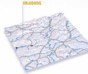 3d view of Ŭmji-dong