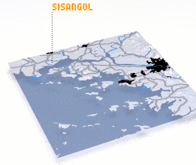 3d view of Sisan-gol