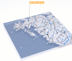 3d view of Sasŏng-ni