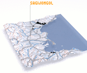 3d view of Sagijŏm-gol