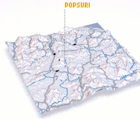 3d view of Pŏpsu-ri