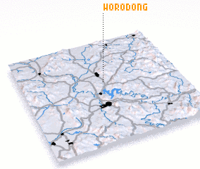 3d view of Wŏro-dong
