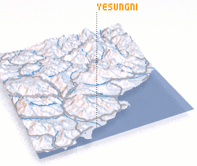 3d view of Yesŭng-ni