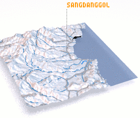 3d view of Sangdang-gol