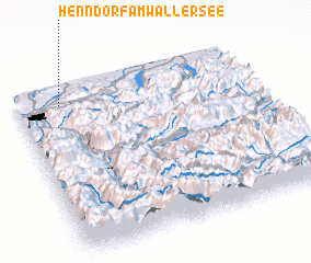 3d view of Henndorf am Wallersee