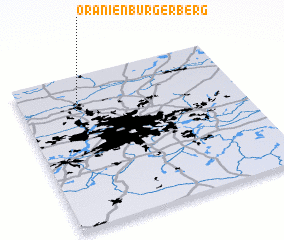 3d view of Oranienburger Berg