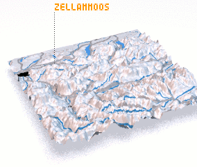 3d view of Zell am Moos