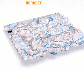 3d view of Mondsee
