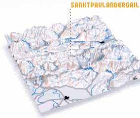 3d view of Sankt Paul an der Gail