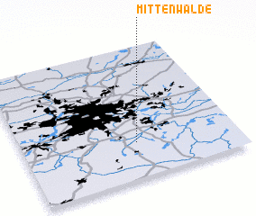 3d view of Mittenwalde