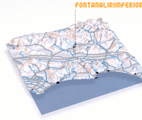 3d view of Fontana Liri Inferiore
