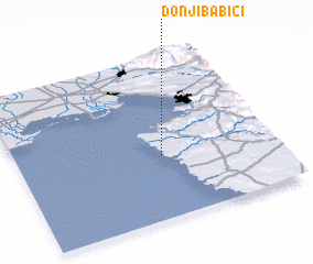 3d view of Donji Babići