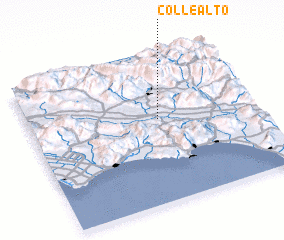 3d view of Colle Alto