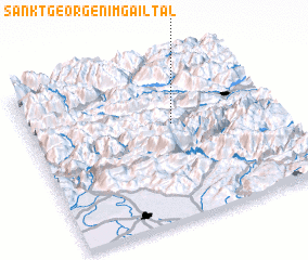 3d view of Sankt Georgen im Gailtal
