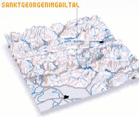 3d view of Sankt Georgen im Gailtal