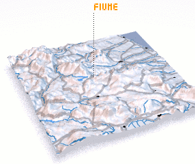 3d view of Fiume