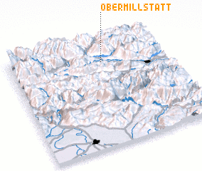 3d view of Obermillstatt