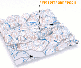 3d view of Feistritz an der Gail