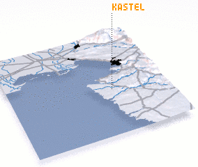 3d view of Kaštel
