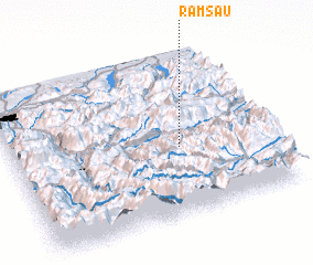 3d view of Ramsau