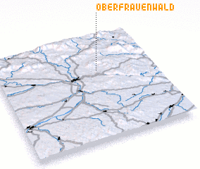 3d view of Oberfrauenwald