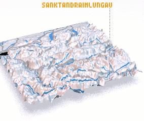 3d view of Sankt Andrä im Lungau