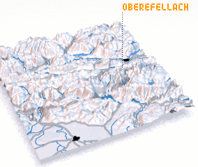 3d view of Obere Fellach