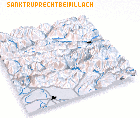 3d view of Sankt Ruprecht bei Villach