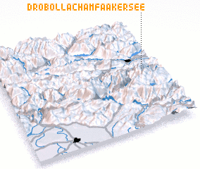 3d view of Drobollach am Faakersee