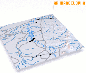 3d view of Arkhangelovka