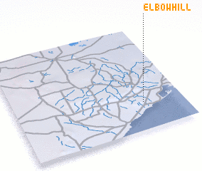 3d view of Elbow Hill