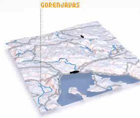 3d view of Gorenja Vas