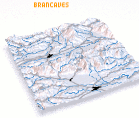3d view of Branča Ves