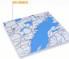 Delebäck Sweden Map Nonanet - Sweden map 3d