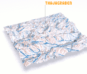 3d view of Thajagraben
