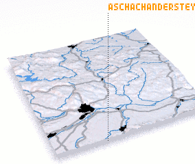 3d view of Aschach an der Steyr