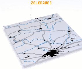3d view of Zelená Ves