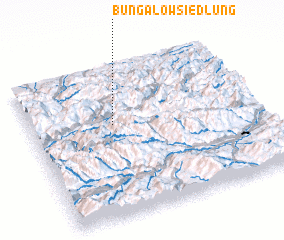3d view of Bungalowsiedlung