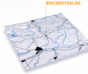 3d view of Bruck bei Tödling