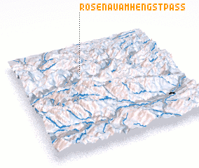3d view of Rosenau am Hengstpass