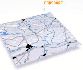 3d view of Ennsdorf