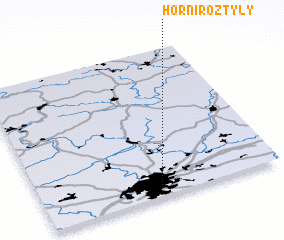 3d view of Horní Roztyly